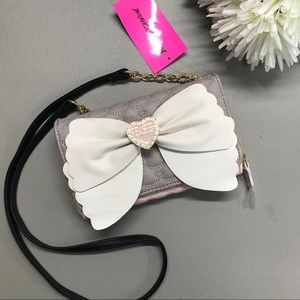 Betsey Johnson Wallet on a String Crossbody Bow